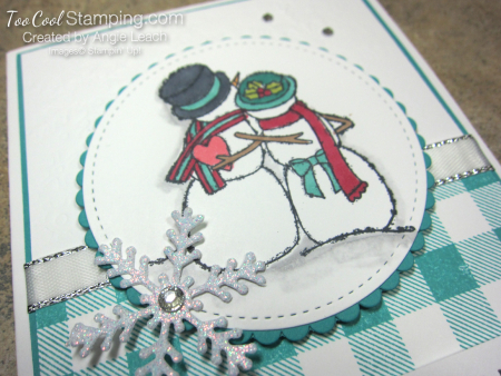Spirited snowman buffalo check - love never melts 3