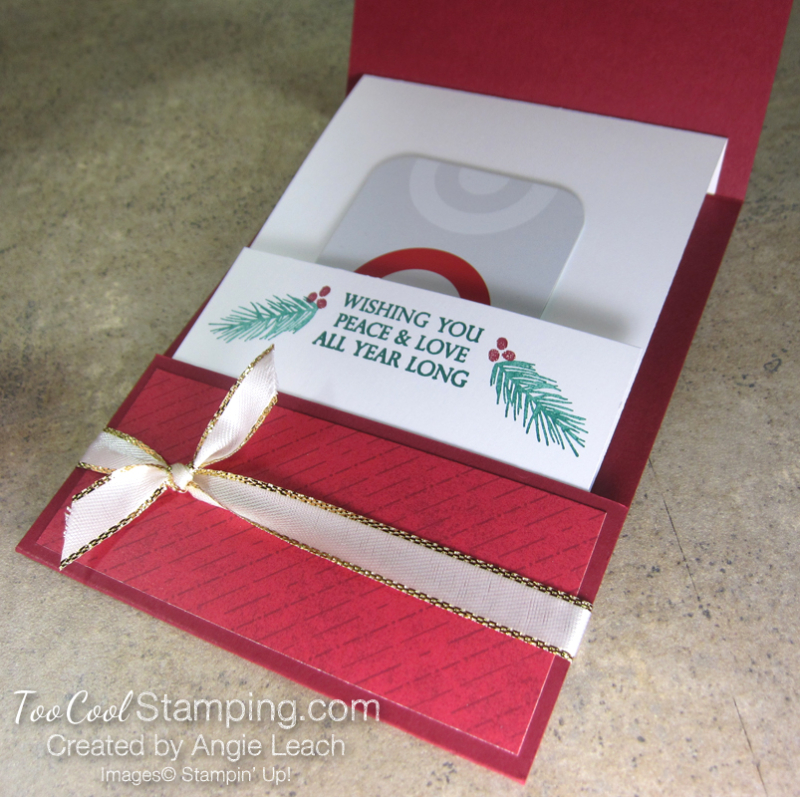 Making Christmas Bright Gift Card Holders - holly jolly 8