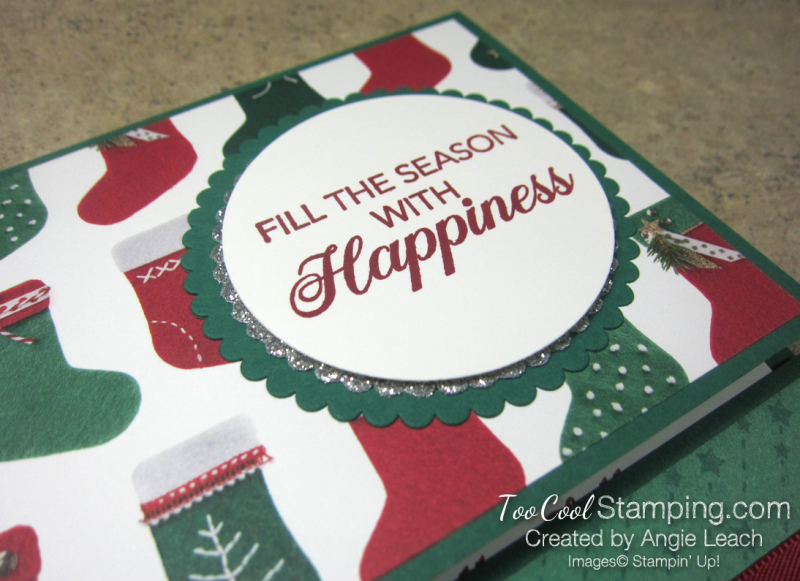 Making Christmas Bright Gift Card Holders - happiness 3