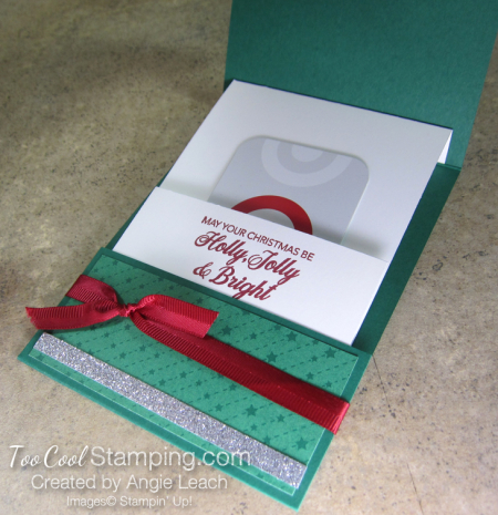 Making Christmas Bright Gift Card Holders - happiness 6