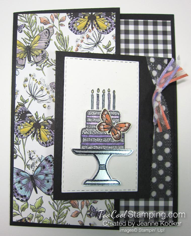 Botanical butterflies piece of cake - jeanne kooker