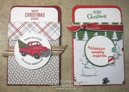 Darlas pull out gift card holders - two cool