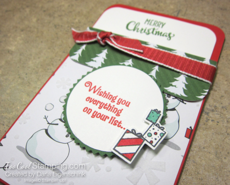 Darlas pull out gift card holders - snowman 2