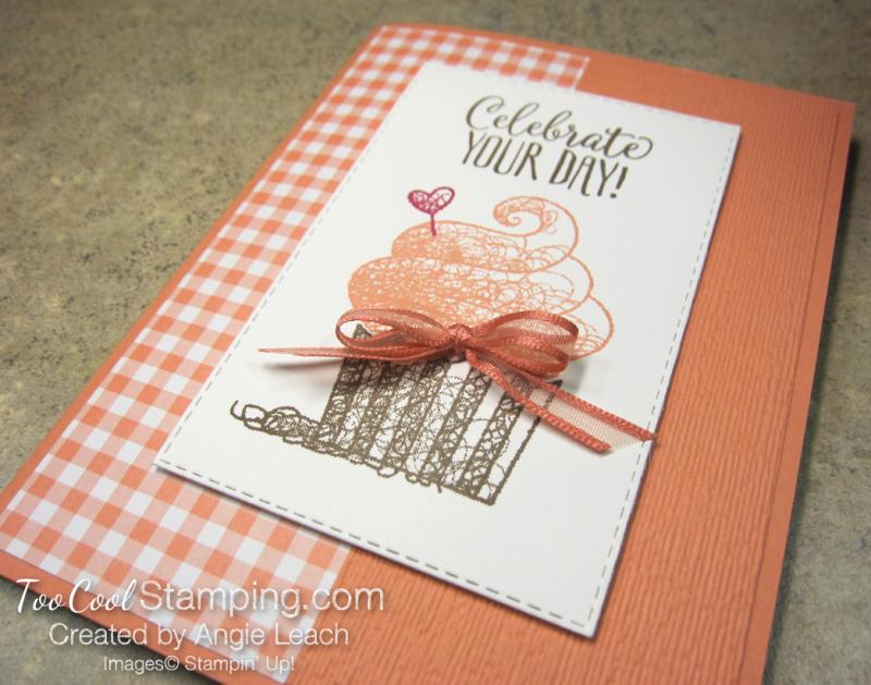 Hello cupcake gingham - grapefruit 2