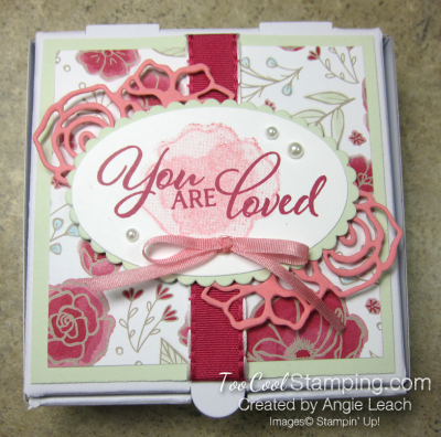 You are loved box - sea foam 2