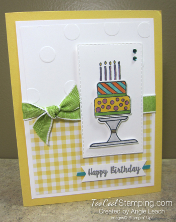 Piece of Cake - gingham birthday