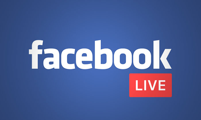 Facebook live graphic
