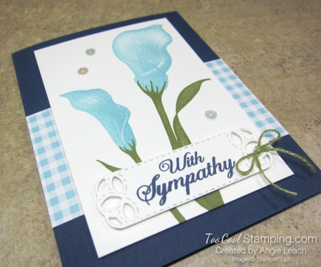 Lasting lily gingham - navy 2