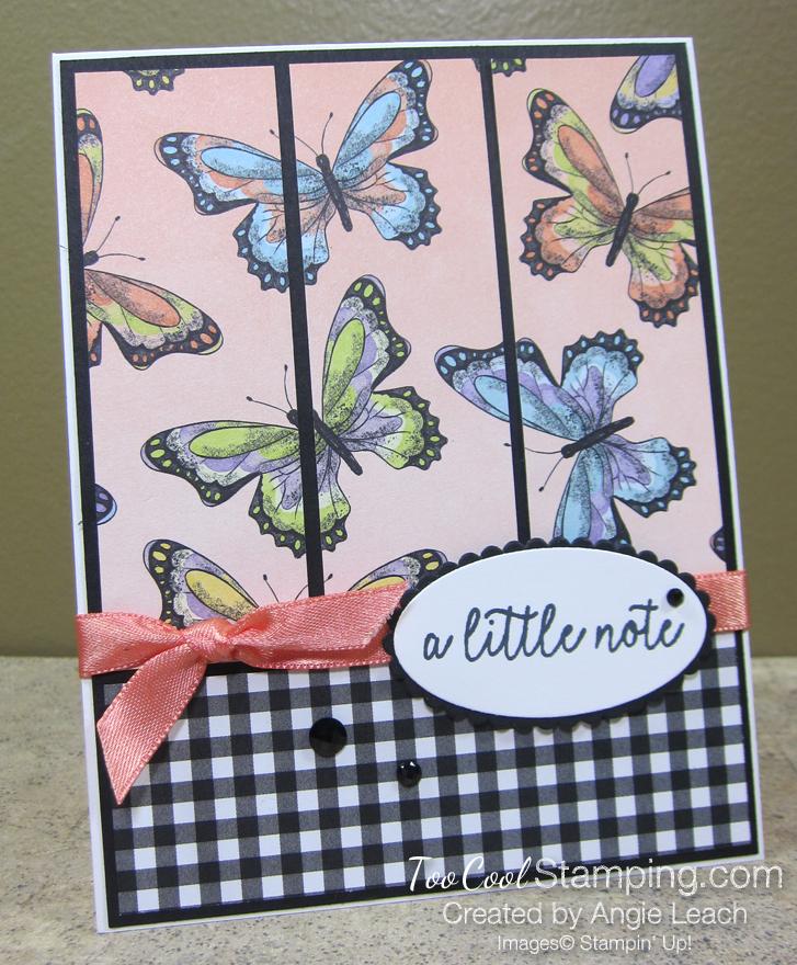 Botanical Butterfly Panels - coral butterflies 1