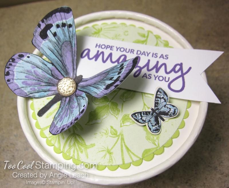 Butterfly sweet cups - lid 12
