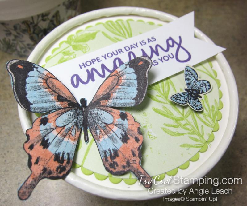 Butterfly sweet cups - lid 6