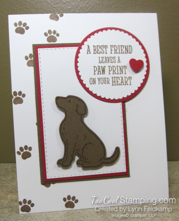 Happy Tails Paw Print on Heart - Lynn Feldkamp