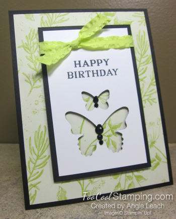 Perennial birthday butterflies - lemon lime 1