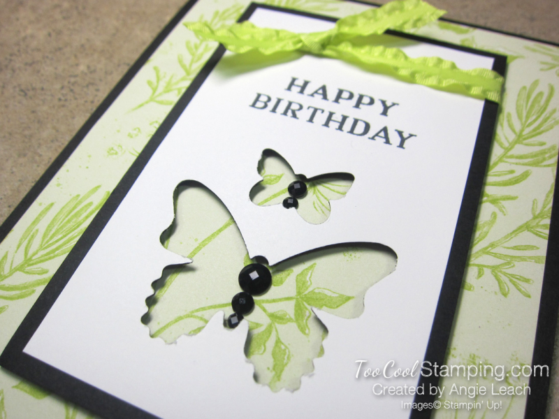 Perennial birthday butterflies - lemon lime 2