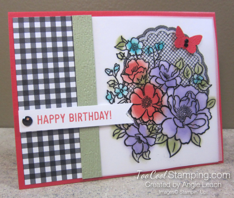 Lovely lattice with sponging - poppy