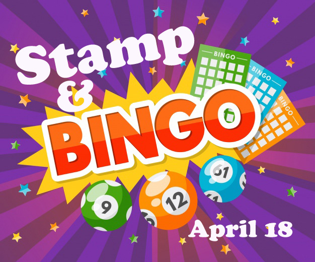 Stamp & bingo banner - april 18