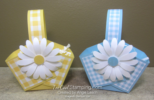 Gingham gala easter baskets - daffodil & balmy