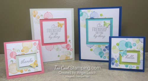 Beauty abounds recessed window & note cards - two cool
