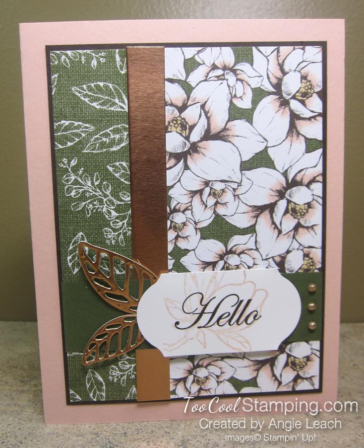 Magnolia Lane Two Leaves - hello