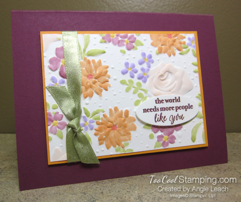 Colored country floral - razzleberry