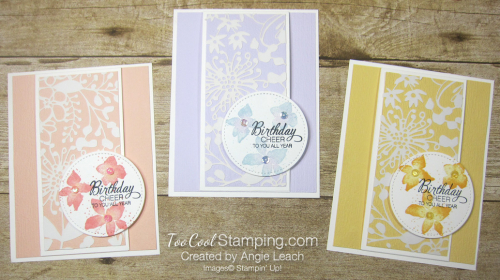 Parcels & petals shimmer flap cards - 3 cool