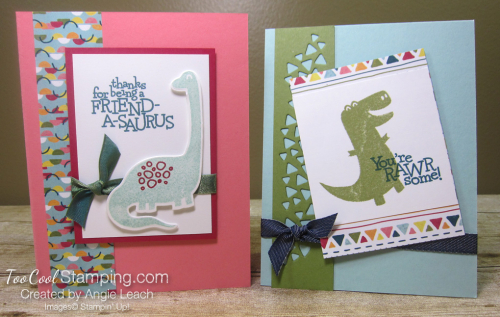 Dino days easy cards for kids - two cool