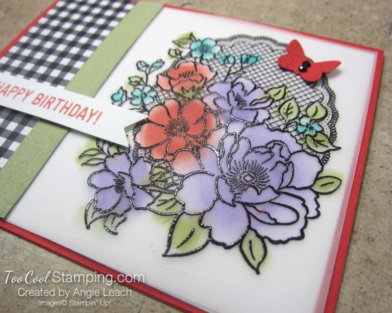 Lovely lattice with sponging - poppy 3