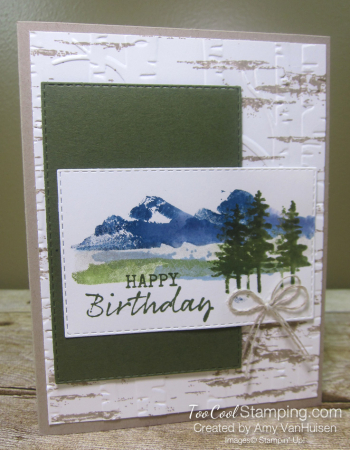Waterfront spritzed stamping 1 - amy
