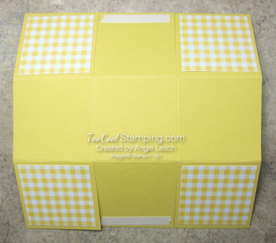 Gingham gala easter baskets - template