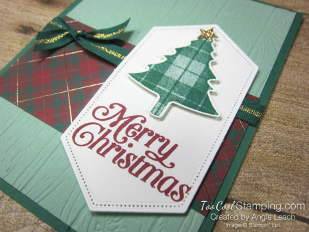 Perfectly plaid expo cards - merry christmas 3