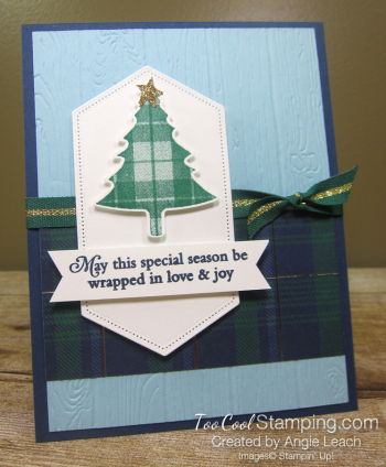 Perfectly plaid expo cards - love joy
