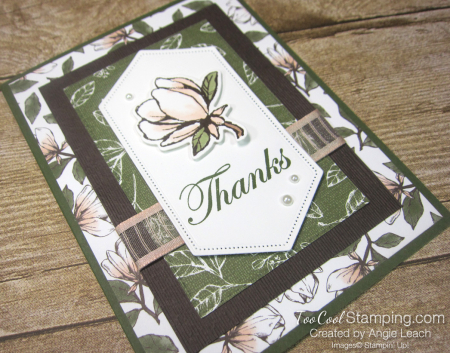 Magnolia lane rectangle layers cards - mossy 2
