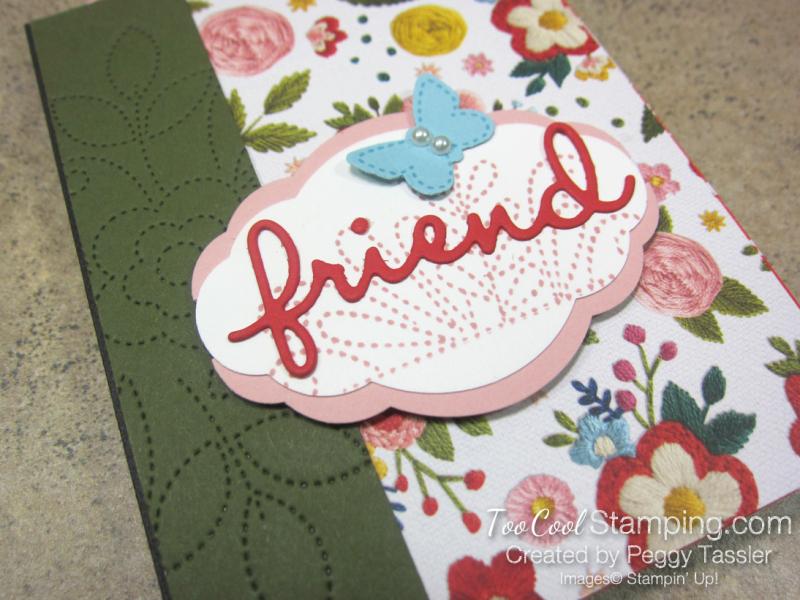 Friend Needlepoint Notebook - poppy 2