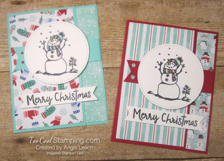 Let it snow interlocking card - two cool