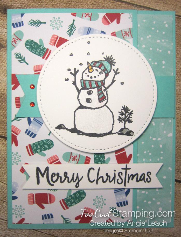 Let it snow interlocking card - pool