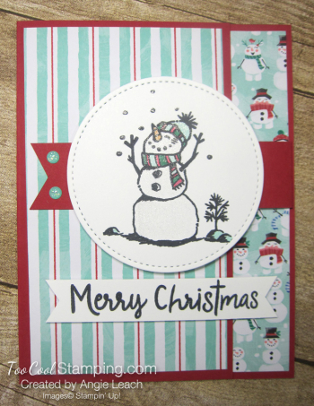 Let it snow interlocking card - red