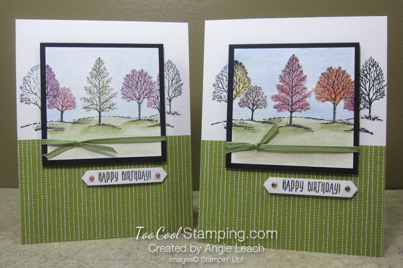 Lovely As A Tree Watercolor Spotlight - two cool