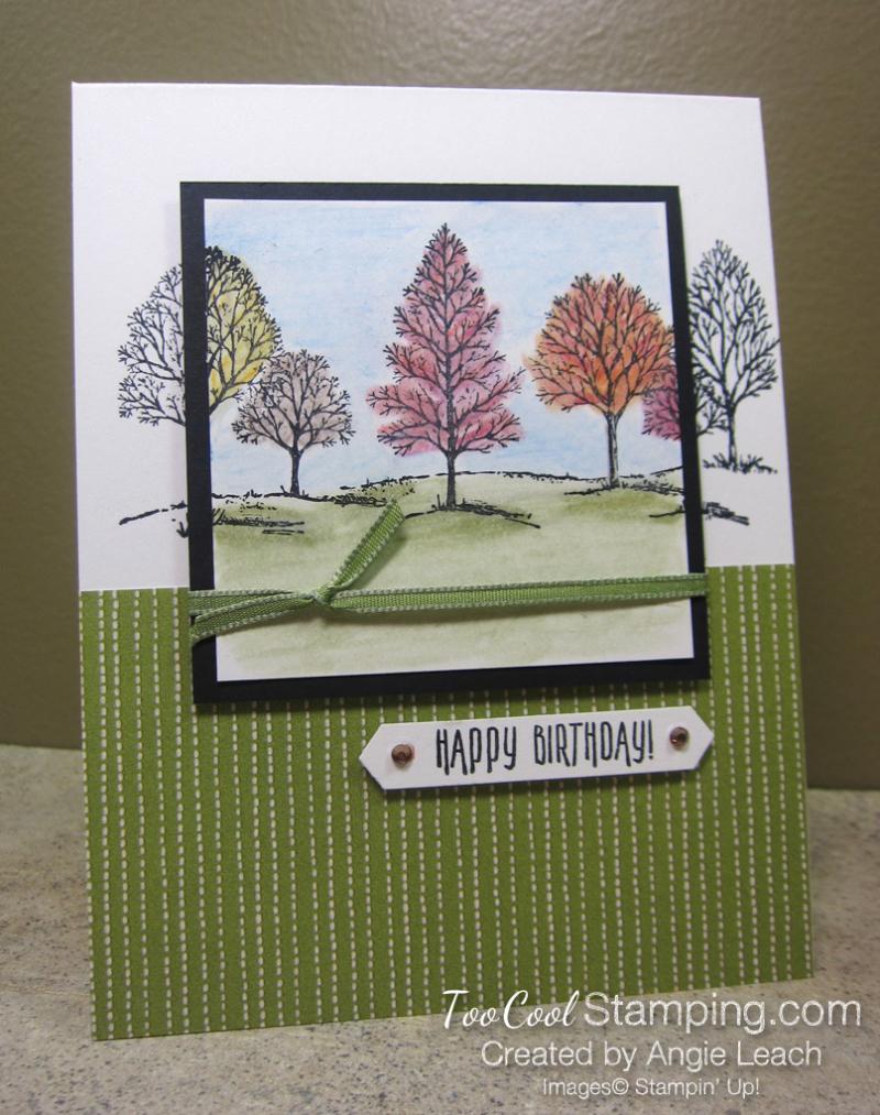 Lovely As A Tree Watercolor Spotlight - fall