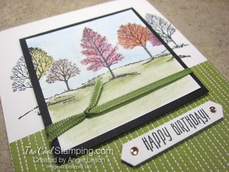 Lovely As A Tree Watercolor Spotlight - fall 2