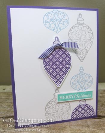 Christmas Gleaming falling ornaments - grape 1