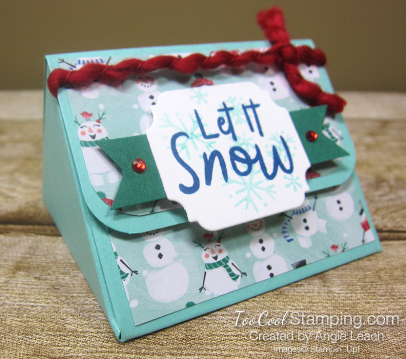 Let it snow triangle box