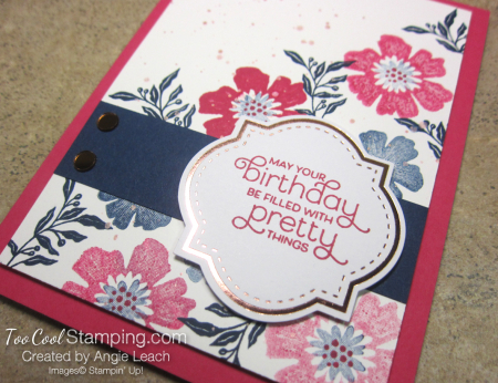 Everything is rosy corner bouquet card 2