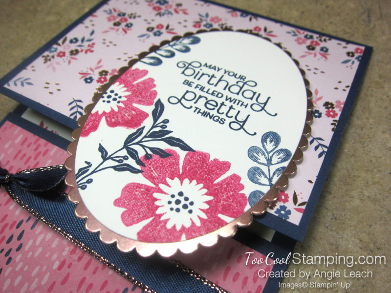 Everything Is Rosy Pull-Up Gift Card Holder - pink floral 3