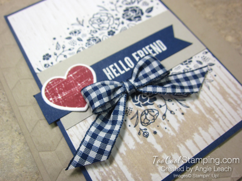 Wood Words hello friend - heart 2