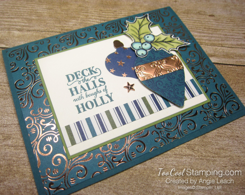 Christmas gleaming boughs of holly - peacock 2