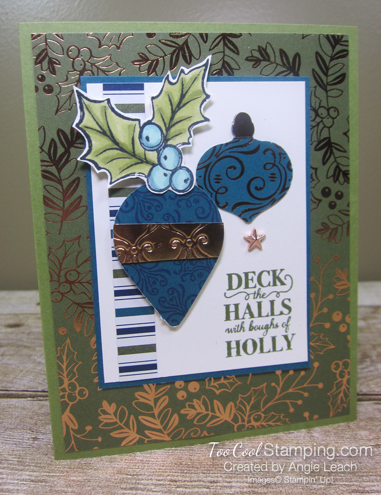 Christmas gleaming boughs of holly - olive