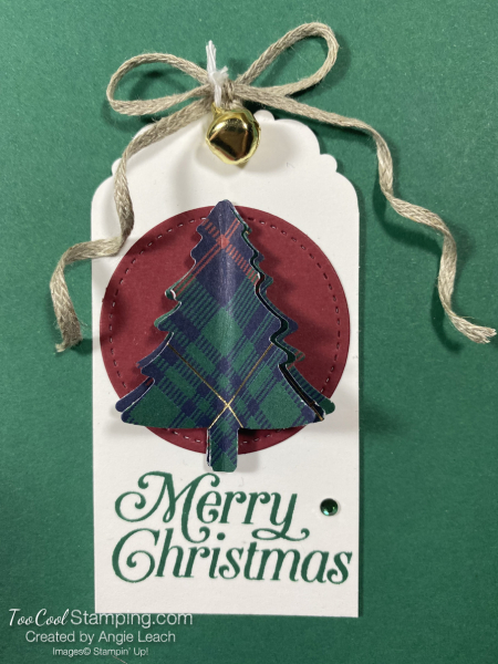 Perfectly plaid 3 layer tree tag 2