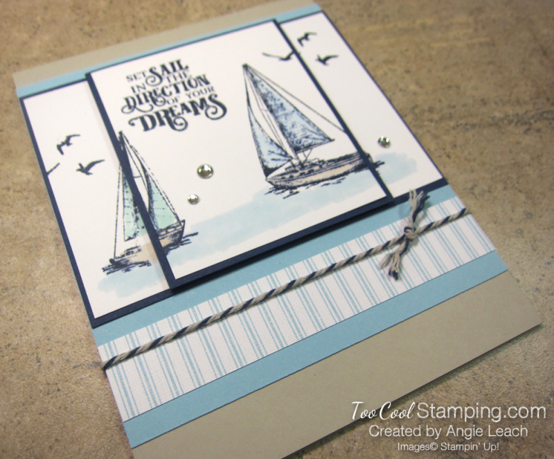 Two Layer Stamping - sailing home 2