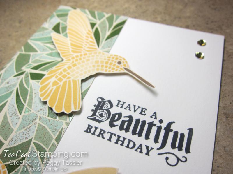 Mosaic mood birthday - two birds 3