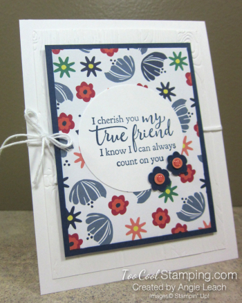 Sweet happiness blooms cards - true friend